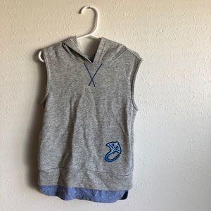Toddler boy sleeveless hoodie